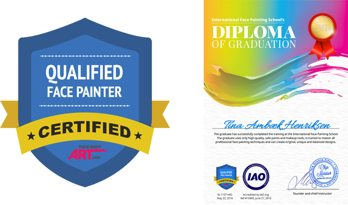 Colorful-faces-Ansigtmaling-Certificering-Diplom